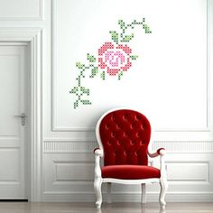 I have been eyeing these wall stickers to decorate my Xstitch file cabinet. But I cannot find a good pattern. I will keep looking.