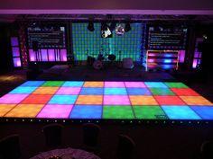 Dance on an actual disco floor.