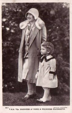 Queen Elizabeth II as a child with her mother