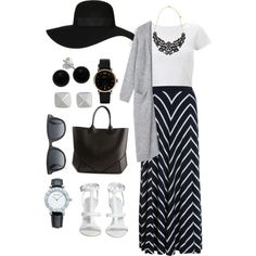 """""""Maxi skirt"""" by namira-p on Polyvore"""