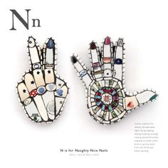 Letter 'N' mosaic from A-Z Handbook by artist Cleo Mussi
