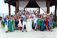 Destination wedding at The Royal Playa del Carmen resort. Mexico wedding photographers Del Sol Photography.