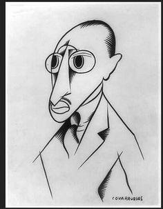 Igor Stravinsky, Vanity Fair by Miguel Covarrubias
