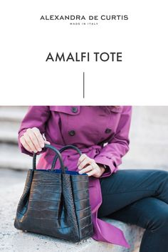 Are you looking for a designer leather handbag? Click through to check out the Amalfi Tote, handmade in Italy with smooth
