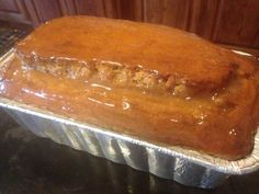 Gluten-Free PUMPKIN BREAD with Clear CINNAMON GLAZE * can also be sugar-free, and is dairy-free * SPICES * freezes & ships well