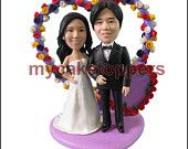 custom cake topper with an arch background