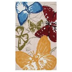 I pinned this Butterflies Rug from the Rug Market event at Joss and Main!