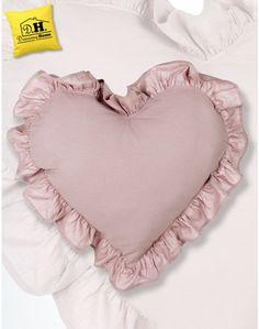 Soplendido cuscino arredo a forma di cuore Shabby Chic della Blanc Mariclo 60 x 60 cm