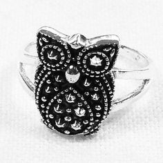 Vintage Owl Ring In Sterling Silver From NorthCoastCottage