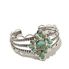 Studio Barse Sterling Silver Turquoise Cuff Bracelet