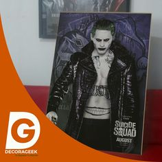 Póster de Cinema Original Escuadron Suicida Joker version cinemas de USA. Compralo DecoraGeek.com