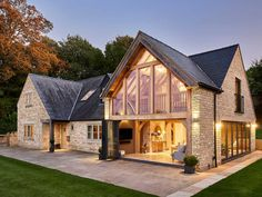 House Extension Design, House Design, Cottage Extension, Extension Ideas, Oak Framed Buildings, Oak Frame House, Rustic Home Design, Rustic Home Exteriors, Up House