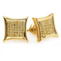 0.15 Carat (ctw) 18K Yellow Gold Plated Sterling Silver Yellow Round Diamond Micro Pave Setting Kite Shape Stud Earrings DazzlingRock Collection. $49.99. Crafted in 925 Sterling Silver. Weighs approximately 1.52 grams. Diamond Color / Clarity : Yellow / I2-I3. COLOR ENHANCED. Diamond Weight : 0.15 ct tw.. Save 71%!