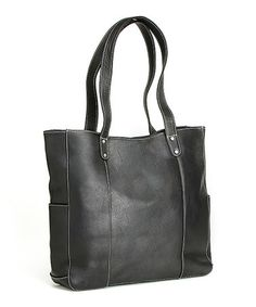 Look at this #zulilyfind! Black River Leather Tote #zulilyfinds