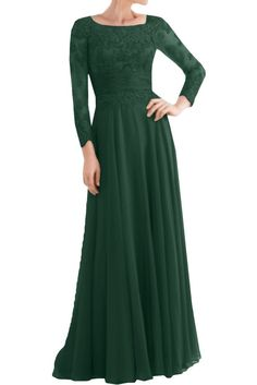 Vienna Bride Elegant Lace Long Sleeves Mother of the Bride Dress Evening Gown-2-Olive green