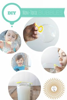 DIY Non-Toxic Bubbles // This House of Joy