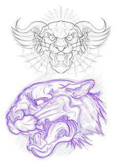 066 - Sketches by Joshua M. Smith, via Behance