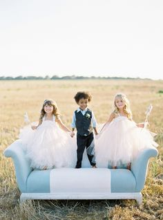 Precious little flower girls and ring bearer. #wedding #fashion