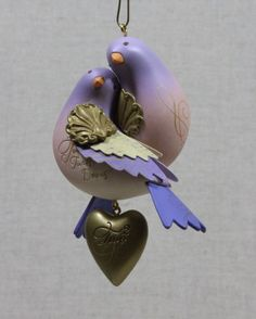 Hallmark Two Turtle Doves 12 Days of Christmas 2nd Keepsake Ornament IOB 2012 * $23.99