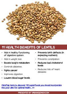11 health benefits of lentils