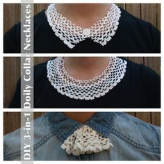 DIY Crocheted Doily Projects , Doily Collar Necklace :D this look amazing ill try it