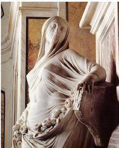La Pudicizia Velata, opera di Antonio Corradini (1668-1752) | Cappella Sansevero, Napoli