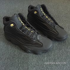 290c4714387bff Air Jordan Pro Strong Jordan 13.5 Leather Mens Basketball Shoes Lifestyle  Sneakers Black Metallic Gold