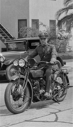 Los Angeles Police Department Motor Officer on Indian Motorcycle