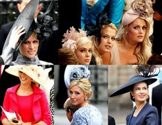 fascinators would be most appropiate :)