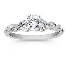 Swirl Diamond Engagement Ring $595