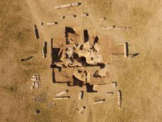 Ancient Turkic monument surrounded by 14 pillars with inscriptions discovered in Mongolia