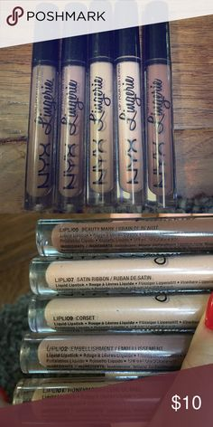 NYX liquid lipstick as a set or make offer Liquid lipsticks from NYX. Colors are in pics. In new condition. NYX Makeup Lipstick