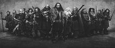 #thehobbit #dwarf #dwarves #handsome #13 #thirteen #bw #blackwhite #grey