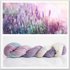Lavender and Light Shimmering Silk Cashmere yarn by Expression Fiber Arts - hand-dyed with love! http://www.expressionfiberarts.com/categories/cashmere-silk-fingering.html?sort=newest