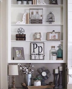 Such a lovely shelf display! Thanks for including Antique Farmhouse in your #homedecor Beth.  #decoratingideas