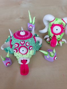 #sculpey #clay #monsters By Gretchen Harwood