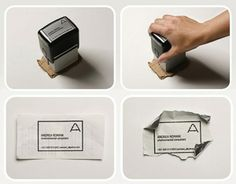 The ultimate in recycled business cards!
