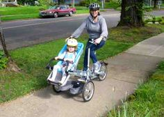 What a cool bike to transport a child!