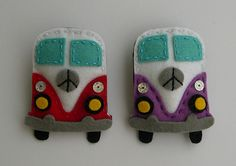 VW Buses from felt