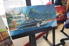 Chip Foose Painting inspired by Pixar's cars. Hudson Hornet and McQueen.