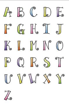 lettering                                                                                                                                                     More Simple Calligraphy Alphabet, Fun Fonts Alphabet, Lettering Styles Alphabet, Abc Font, Simple Lettering, Doodle Alphabet, Abc Alphabet, Calligraphy Fonts, Alphabet Police