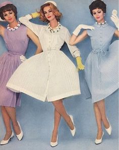 1950s Summer Dresses. See how they were classy? Not too short nor revealing, very lady like
