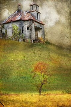 Watercolor - by Cheryl Tarrant Photo Texture, Wow Art, Old Barns, Beautiful Paintings, Painting Inspiration, Lovers Art, Watercolor Paintings, Watercolours, Architecture