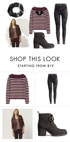 """""""Rock Navy Winter"""" by blackpoppy45 on Polyvore featuring mode, H&M, women's clothing, women's fashion, women, female, woman, misses et juniors"""