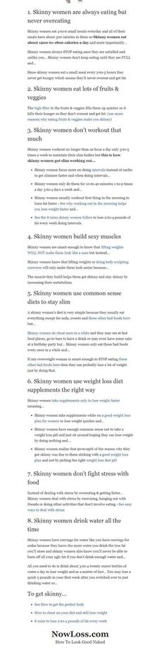 Skinny girl wisdom