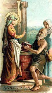 Dia a Dia Franciscano.: Santa Franciscana do dia - 27/04 - Santa Zita de L...