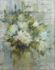 by Richard Schmidt Paintings I Love, Beautiful Paintings, Rose Oil Painting, Foto Art, Still Life Art, Arte Floral, Abstract Flowers, Pictures To Paint, Art Oil