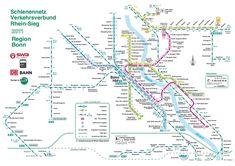 Metro map of Bonn Full resolution Bonn Germany, Metro Subway, Subway Map, Transport Map, Public Transport, Corporate Identity Design, Cologne, Db Bahn, Bus Und Bahn