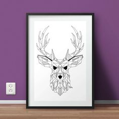 Poster - Geometric Deer