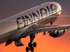Finnair A330-300 take-off